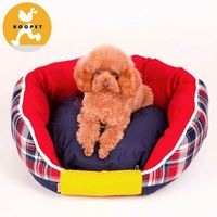 Hot sale maroon pet bed for small dogs