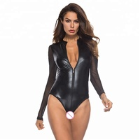 SFY260 hot black sexy girls leather latex lingerie