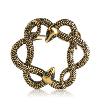 Antique Gold Jewelry Women Men Crystal