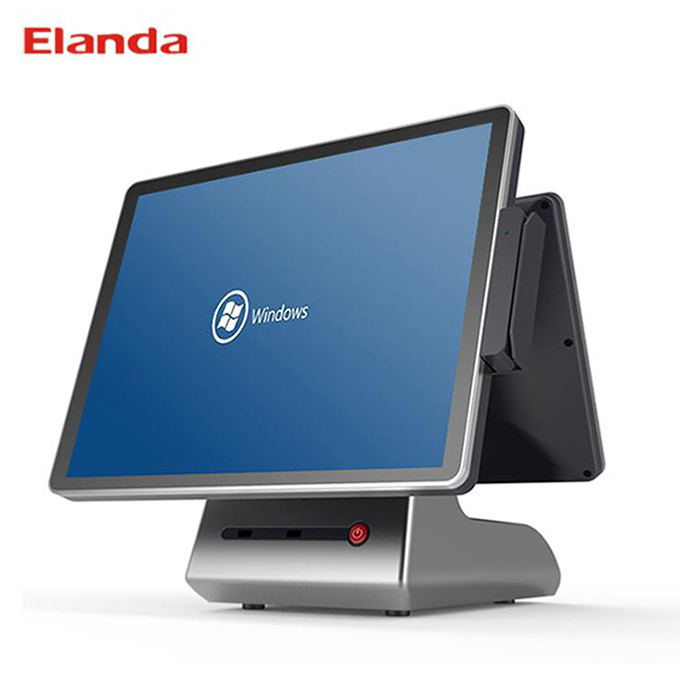 Elanda Touch Dual Screen Cash Register Pos Machine System All in One Price for Supermarket