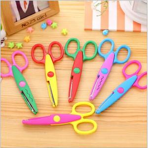 6 pcs/lot DIY Craft Scissors Wave Edge Craft School Scissors for Paper Border Cutter Scrapbooking Handmade Kids Artwork Card