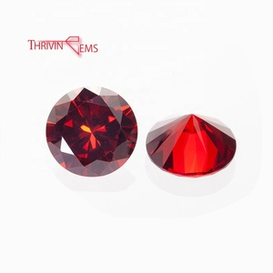 High Quality Red Christmas Decorations Gemstone Cz Cubic Zirconia for Jewelry