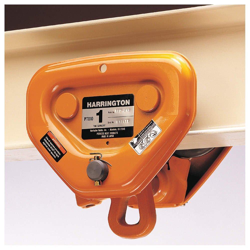 "Harrington PT Push Trolley PTF2030 - Flange Adjustability 3.23"" to 6.02"", 2-1/2-3 Ton"