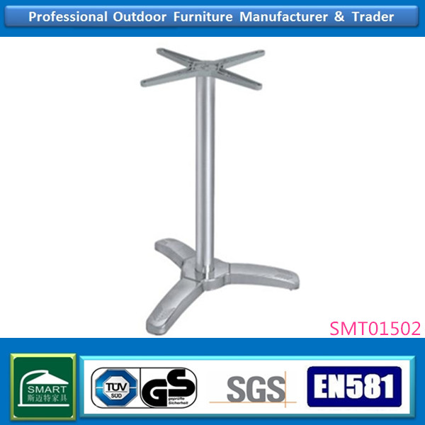 HEIGHT ADJUSTABLE DINING CAFE FURNITURE THREE LEGS METAL TABLE LEGS FOR 2 PEOPLE