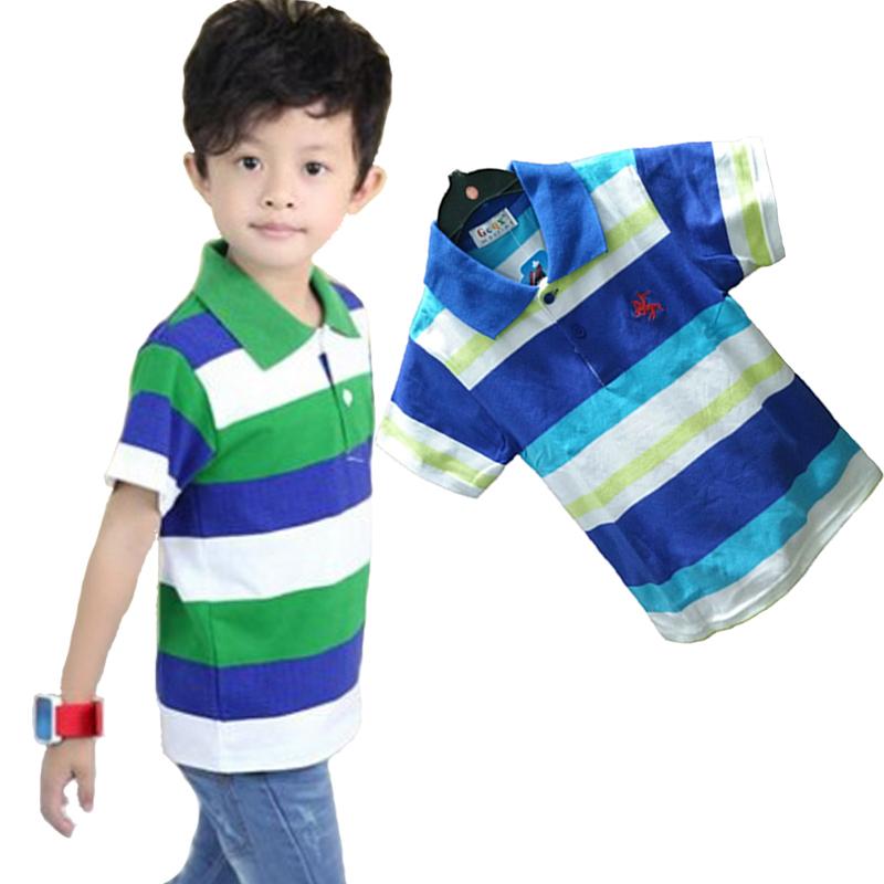 7617e86c Buy Hot sale! Children kids clothing boys polo shirt short sleeve shirt  striped polo shirt boys summer style baby shirt 2-10 years in Cheap Price  on ...