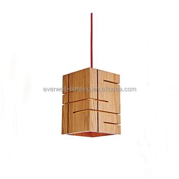 handmade wooden lamps