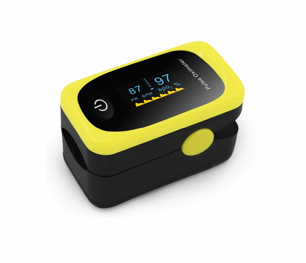 Heart rate monitoring wireless Digital finger oximeter OLED display
