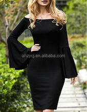 China fashion women clothes long sleeve dresses ladies new dress