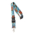 Promotional Polyester Embroidery Custom Woven Lanyard with Metal Hook No Minimum Order