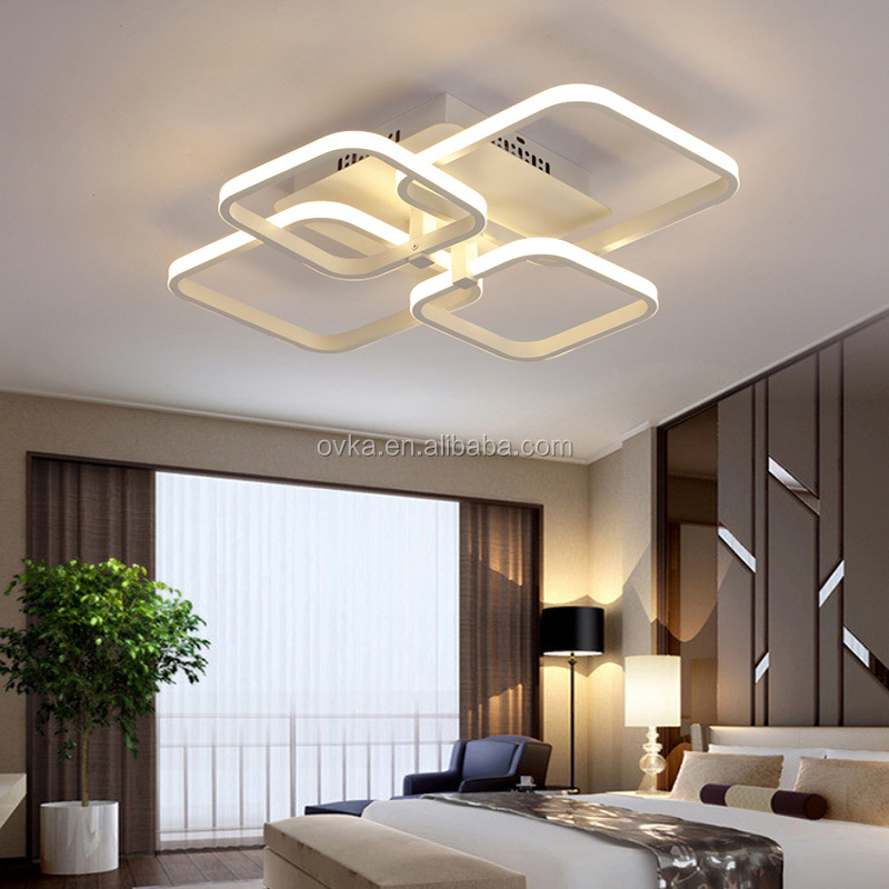 new product 181ee 63581 Rectangular led modern warm bedroom lights remote dimming study lamps  living room LED ceiling lighting lamp, View lighting lamp, OVKA or OEM  Product ...