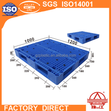 steel reinforced perforated plastic pallet 1200*1000mm double faced