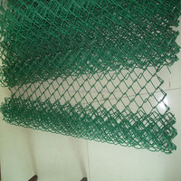9 gauge PVC PE coated 6ft chain link fence mesh