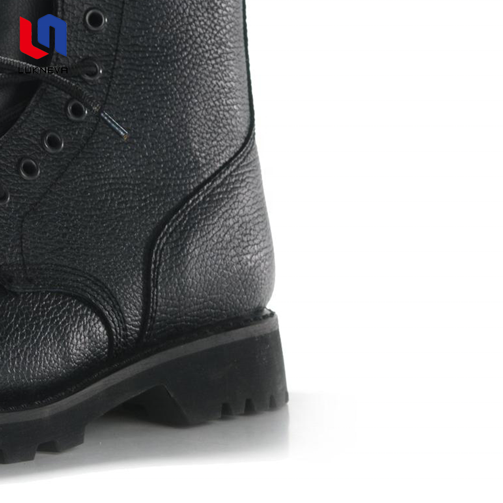 High quality leather cowboy men military boot with buckle