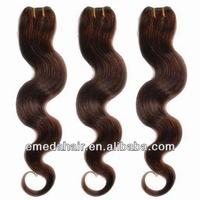 2014 virgin full cuticle brazilian dark auburn hair extensions