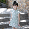 Factory Price Chinese Traditional Qipao Girls Cheongsam Dress Kids