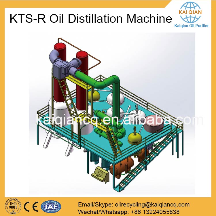 Continuous small used oil distiller