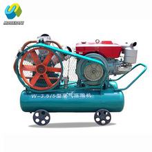 belt driven air pump compressor with air pick for highway construction