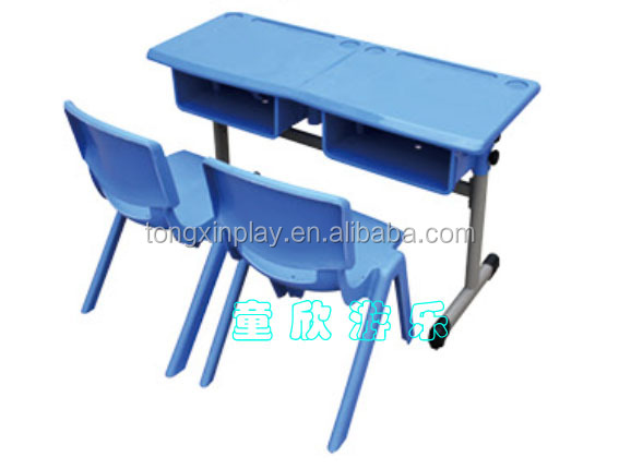 New model height adjust study table and chair for primary school TX-5171E