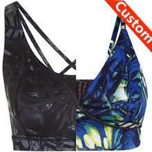 custom made sublimation printing yoga sports bra design your own clothes brazilian fitness wear