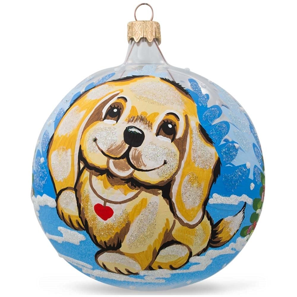 OLD WORLD CHRISTMAS YELLOW LABRADOR RETRIEVER YELLOW LAB XMAS ORNAMENT 12386