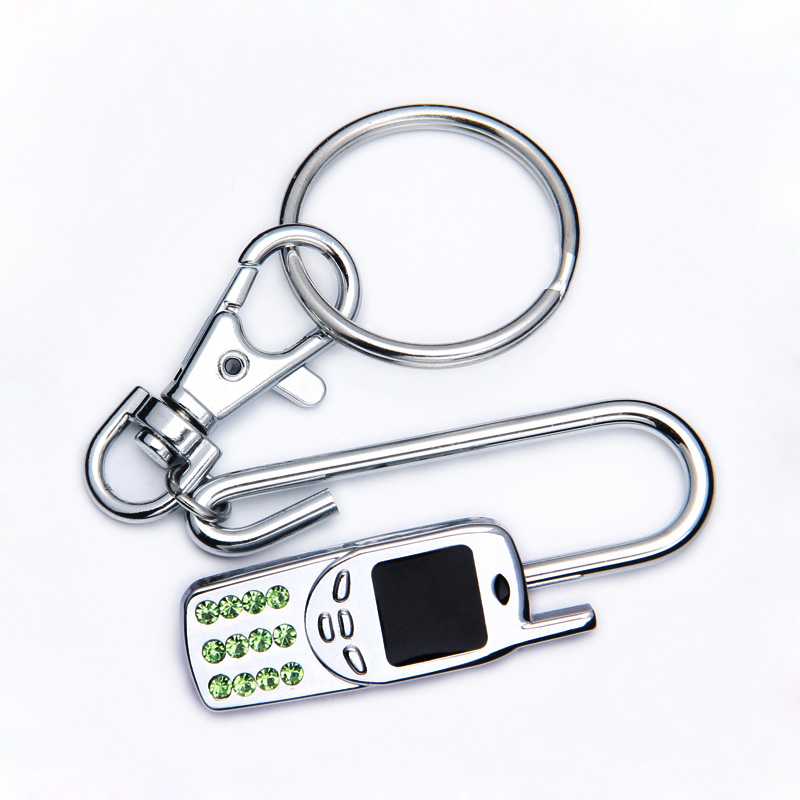 2016 new gift items giveaway key finder gps in phone shape with green rhinestone keys