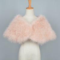 Women Real Ostrich Feather Fur Shawl Fashion Style Natural Fur Shrugs Top Quality Pashmina Poncho