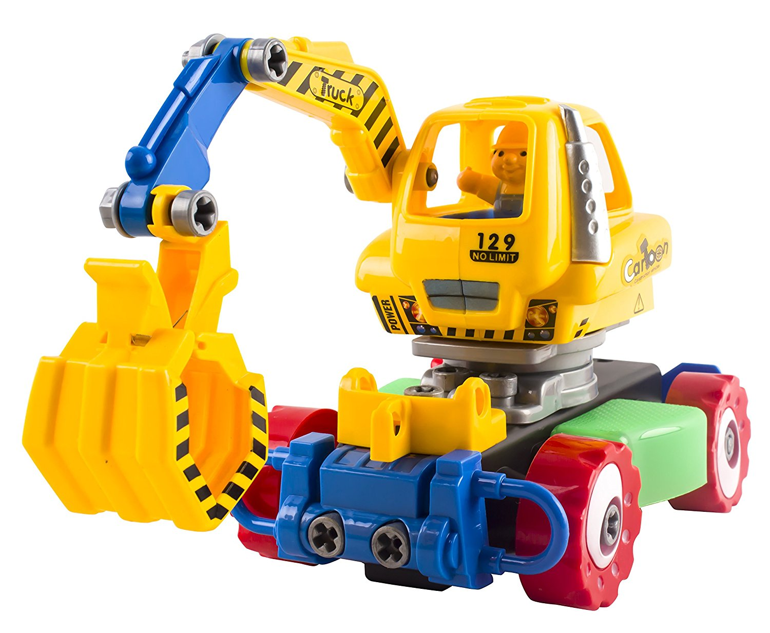 Get Quotations Educational RC Construction Remote Control Truck Excavator DIY Removable Take A Part Learn And