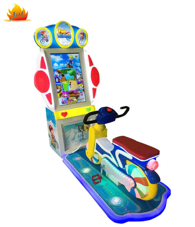 Coin Operated Fun Riding Kids Ride Bike Redemption Game Machine From China