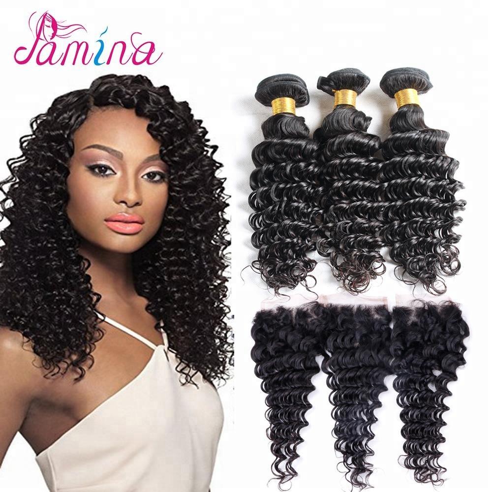 8a Natural Black Human Curly Hair Weave Wholesale Cheap Virgin Hair Extensions Brazilian Deep Wave Factory Direct Sales Bundles