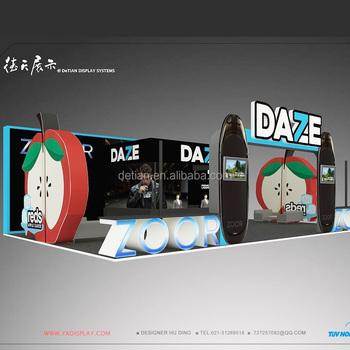 Exhibition Stand 3d Model : Detian offer rent service vape e cigarette 9x15 large size fair free