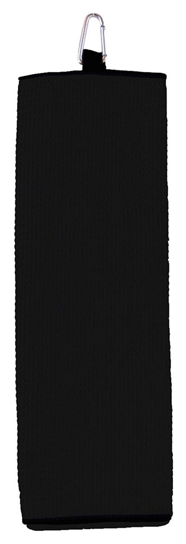 Carmel Fairway Tri Fold Waffle Weave Microfiber Golf Towel