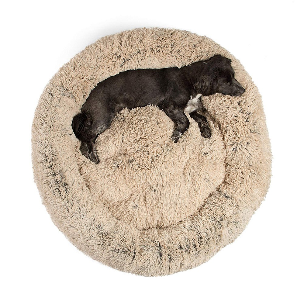 Fabriek Luxe Ronde Fuax Bont Donut Hond Bed