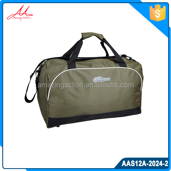 Factory direct green sport bag travel bag with high quality