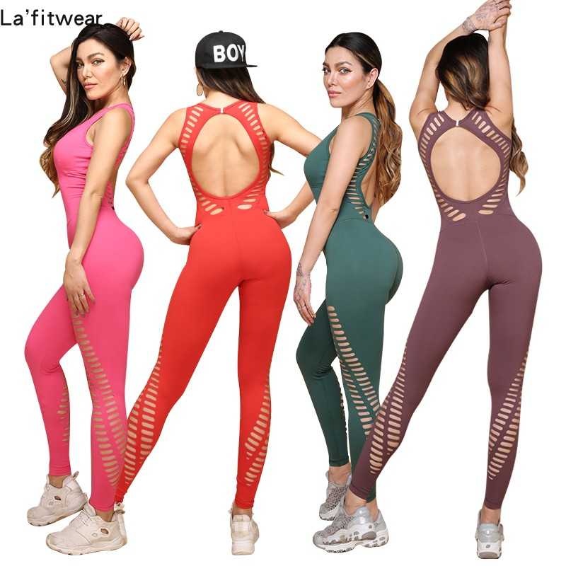 Alibaba.com / Sports Apparel Manufacturer for woman Custom Design Sublimation Fitness Jumpsuit One Piece Gym Wear Workout Suit
