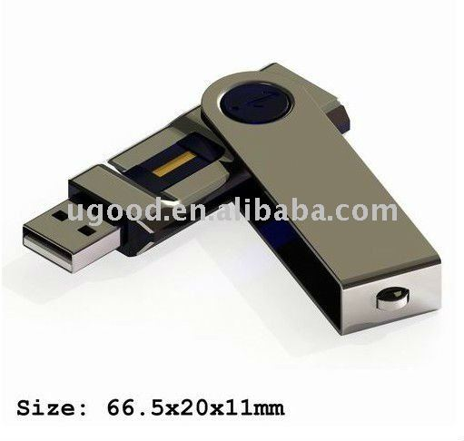 4GB Swivel Fingerprint biometric USB Flash Drive