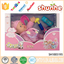 High quality 12 inch sleeping baby doll for kids