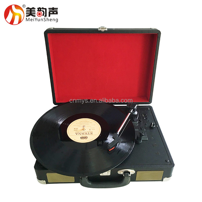 3 speeds Turntable for 33 45 78 RPM Stereo Vinyl Record Player