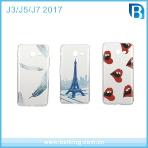 Mobile Phone Accessories Cover Cell Phone Case Custom Design 3D Sublimation IMD Printing Soft TPU Case for Samsung J3 J5 J7 2017