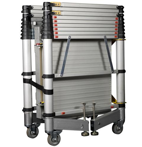 New Style Mobile aluminium Telescopic scaffolding tower ladder in scaffolding