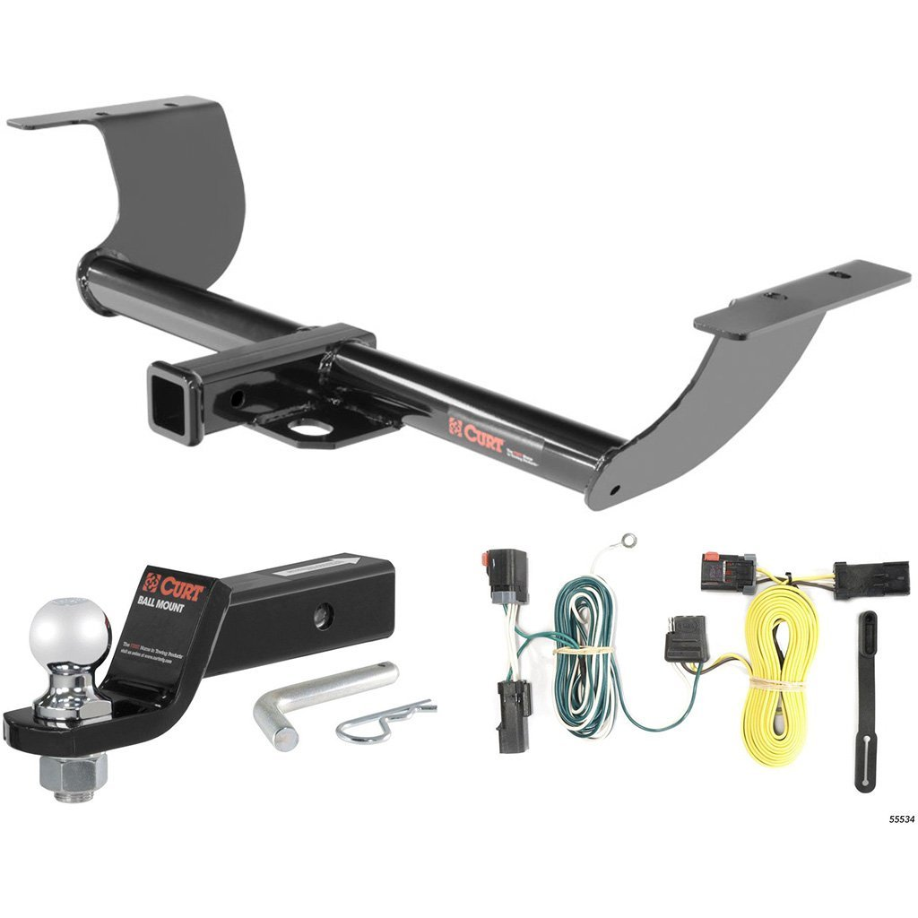 """CURT Class 3 Hitch Tow Package with 2"""" Ball for 2011-2014 Dodge Challenger"""