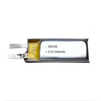 factory direct sell 501145 3.7v 220mAh rechargeable lithium battery