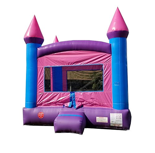 TentandTable Inflatable Bounce House, 13-Foot by 13-Foot Bounce Area, Crossover Pink Castle Complete with Included Blower, Stakes, Repair Kit, and Storage Bag