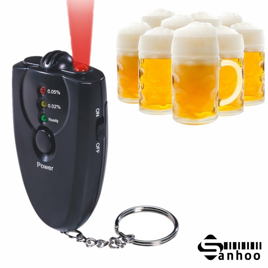 Цифровой алкотестер брелок тестер спирта алкоголя в выдыхаемом воздухе анализ с фонариком