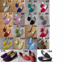 35-43# women dress shoes big size lady flat all colors women doll shoes cheap prices
