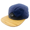 Water-repellent canvas fabric embroidery label patch snapback bamboo hats caps