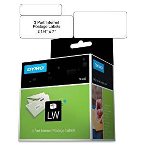 "Wholesale CASE of 10 - Dymo LabelWriter Internet Postage Labels-Shipping/PC Postage Label,3 Part,7""x2-1/4"",150 Labels/BX,WE"