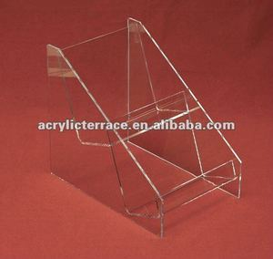 DVD Double Stacked Clear acrylic Shelves