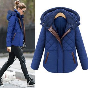 eBay Hot Sale 2014 Fashion Leather Splice font b Winter b font Jacket Women Warm Slim