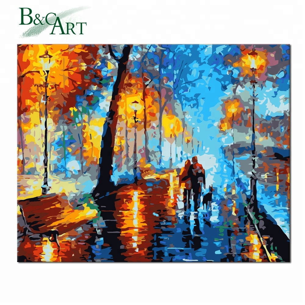 Impressionist Colorful DIY Painting Kit Oil Paint by Number Sets