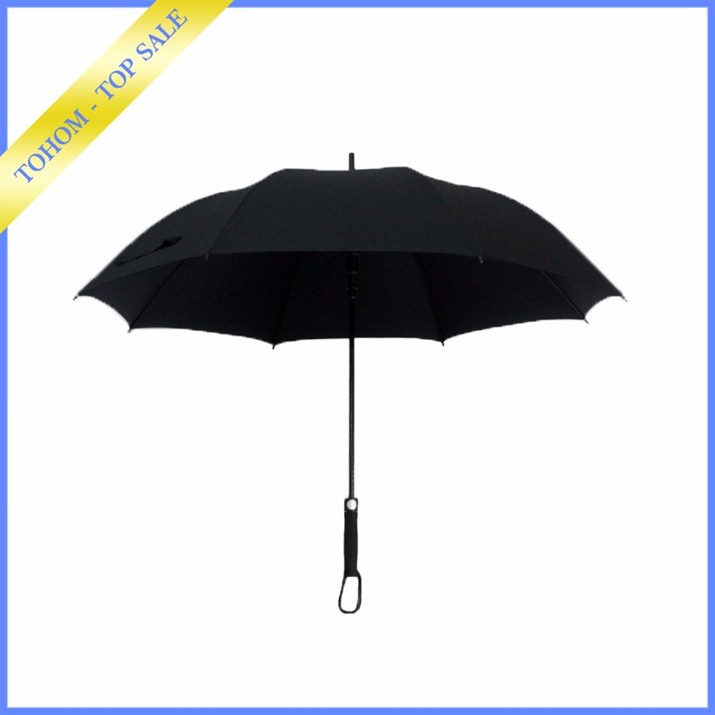 2017 High Quality Solid Rod Pongee Fiberglass Promotional Straight Golf Umbrella Factory